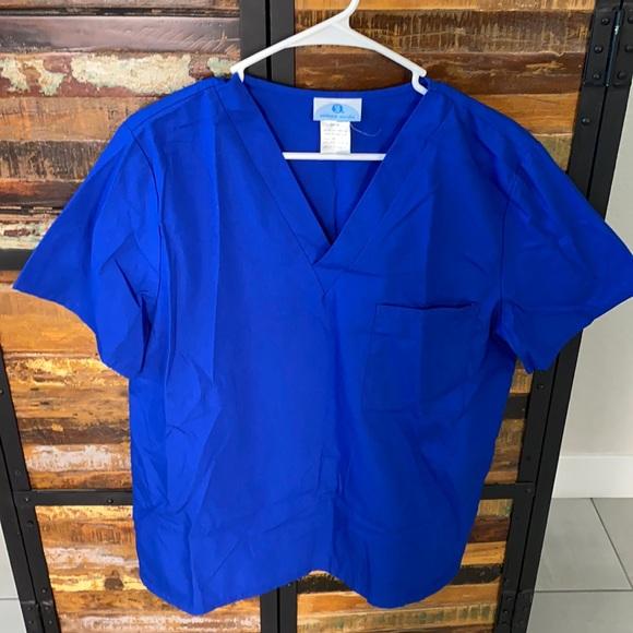 Royal blue medical scrub set